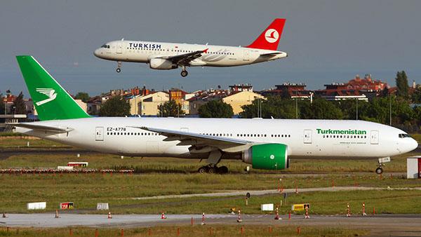 Рейсы Ашхабад-Стамбул прекращены