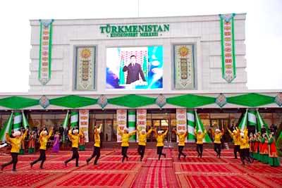В киноконцертном зале «Туркменистан» случился пожар